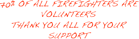 70% OF ALL FIREFIGHTERS ARE VOLUNTEERS